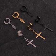 earringforwomen, Steel, black, Fashion