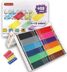 pencil, School, Set, art
