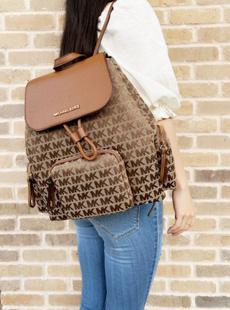 Canvas, Beige, Handbags, Backpacks