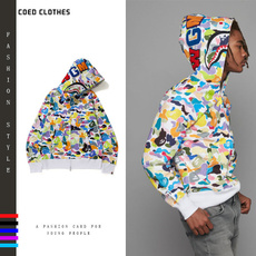 Couple Hoodies, Shark, Fashion, bapecoat