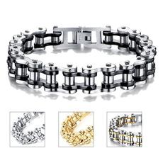 black bracelet, bicyclechain, Fashion, Bicycle