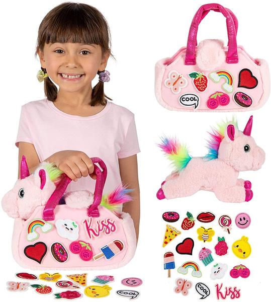 pink, rainbow, Set, stuffed