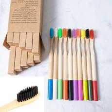 Colorful, Wooden, ecofriendlytoothbrush, Travel