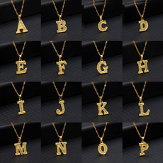 clavicle  chain, fashionjewelery, personalitynecklace, alphabetpendant