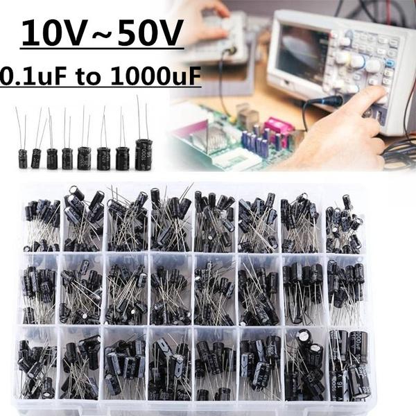 capacitorskit, circuitpart, Aluminum, electrolyticassortmentkit