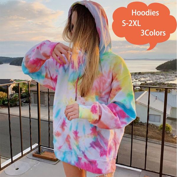 Women Hoodies & Sweatshirts, Tie Dye, Sleeve, Long Sleeve