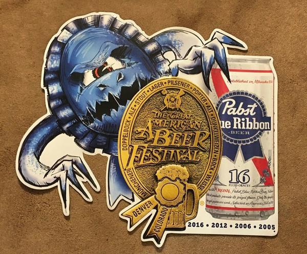 Blues, Beer, retrotinsign, blueribbon