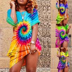 Summer, Plus Size, tiedyeprint, Dress