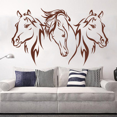 3pcshorsehead, Head, Home Decor, Stickers