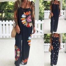 Summer, Plus Size, Floral print, pants