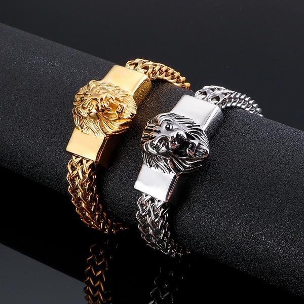 Heavy, Steel, stainlesssteelfigarochainbrac, Jewelry