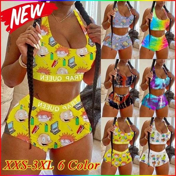 Summer, women2pieceoutfit, Shorts, Tank