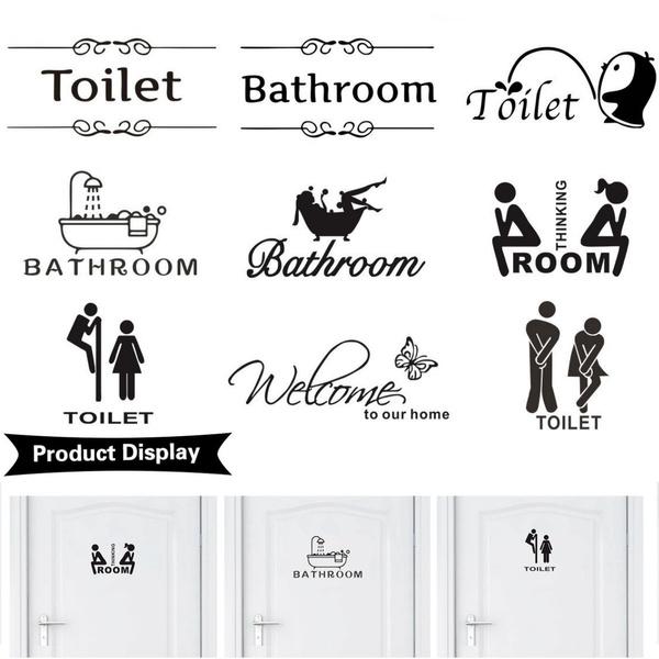 toiletsignsticker, decoration, diy, Door
