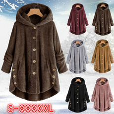 Fleece, hooded, Plush, Winter