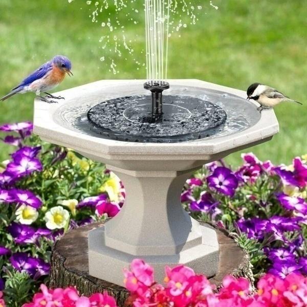 floatingpanel, Outdoor, solarfountainpump, Garden