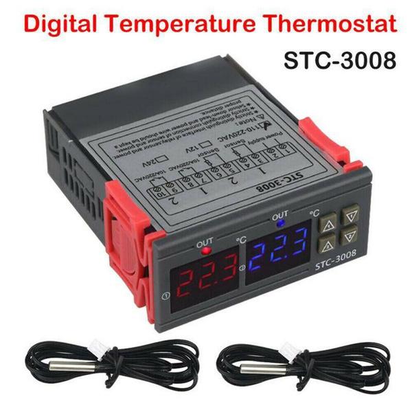 110-220VAC 12//24VDC STC-3008 Digital Temperature Controller Thermostat Tool