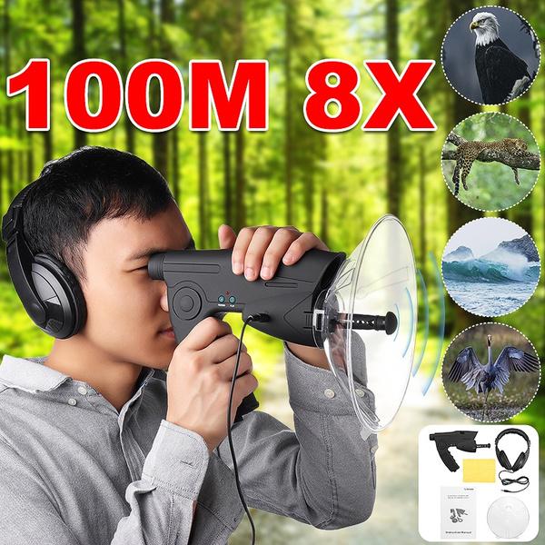 soundamplifier, Spy, birdsobserving, Telescope