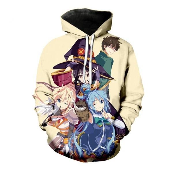 Kawaii, 3D hoodies, Fashion, Hoodies