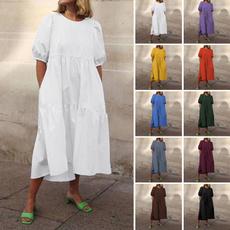 short sleeve dress, candycolordres, Necks, Sleeve