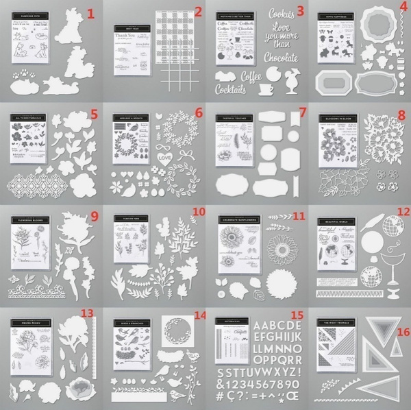 siliconestamp, rubberstamp, Metal, stampset