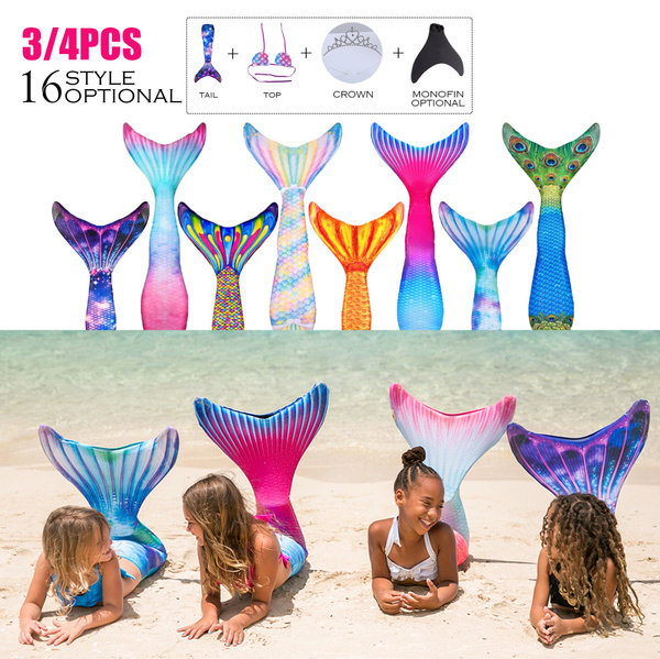 Mermaid dress, Fashion, Swimming Costume, bikini set