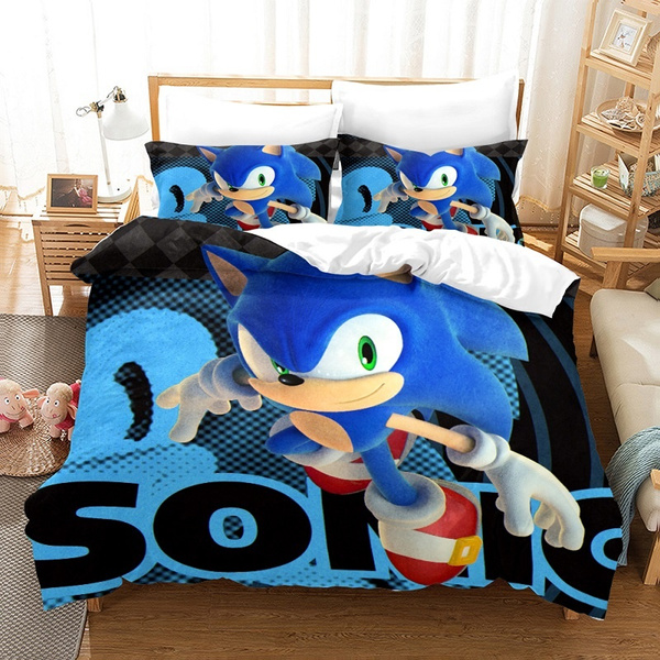 sonic, 3pcsbeddingset, sonicthehedgehogpillowcase, Bedding