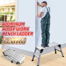 benchstool, folding, laddershomeandliving, Aluminum