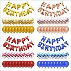 happybirthday, decoration, foilballoon, Aluminum