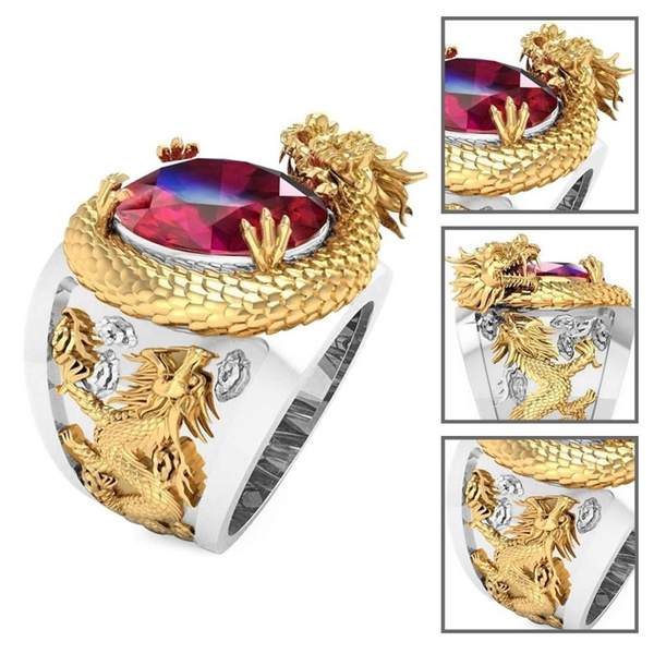 ringsformen, Fashion, dragonring, gold