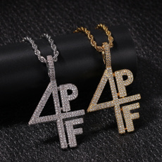 lettersnecklace, Cubic Zirconia, hip hop jewelry, Jewelry