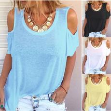 short sleeves, printedtop, Plus Size, Shirt