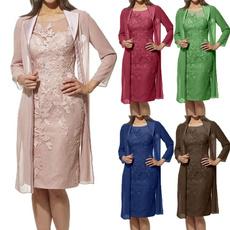 dressforwomen, Lace, motherofthebridedre, Long Sleeve