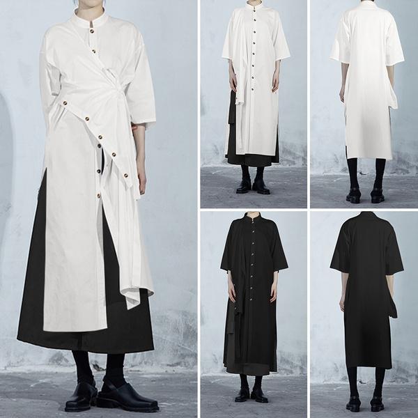buttondowndres, blouse, Plus Size, longtop
