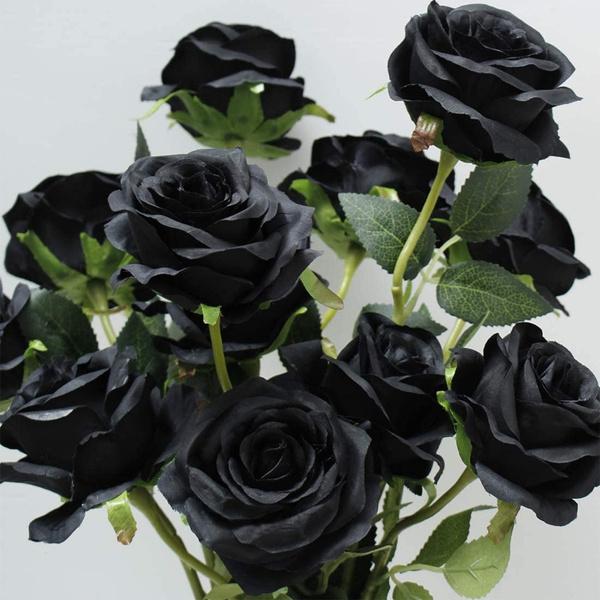 silkflower, blackartificialrose, Christmas, dandelion