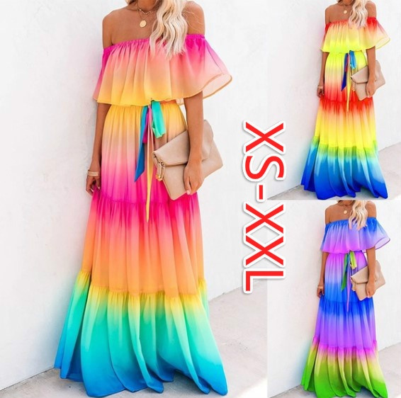 rainbow, Plus Size, rainbowdres, Dress