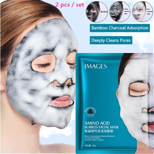 Charcoal, cleansingfacemask, bubble, aminoacidmask