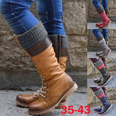 Fashion, Combat, Knee High Boots, Cowgirl