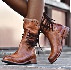 midcalfboot, Leather Boots, Boots, Casual