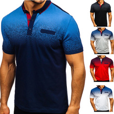 Stand Collar, Summer, Fashion, Polo Shirts