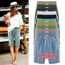 Summer, Beach Shorts, Lace, Casual pants