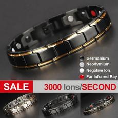 Steel, goldplated, energybracelet, Classic Bracelet