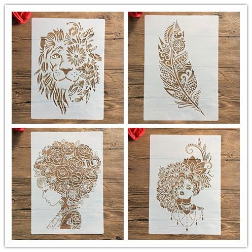 Decorative, stencil, Scrapbooking, Stamps