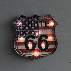 route66, Vintage, led, Home Decor
