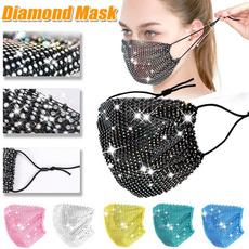 DIAMOND, mouthmask, Jewelry, faceshield