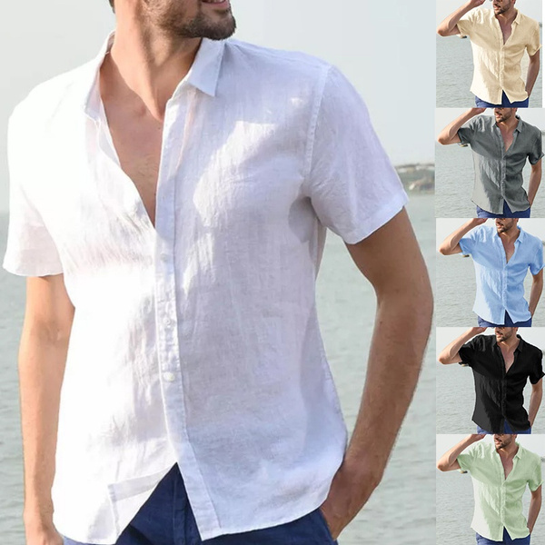 Fashion, short sleeves, V-neck, blousemen