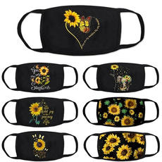 butterfly, womenmask, 2in1windproofdustproofmask, Sunflowers