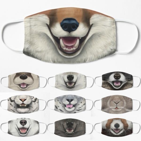 animalfacemask, Cotton, mouthmask, printedfacemask
