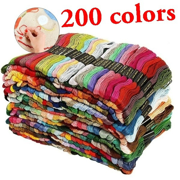 embroiderythread, Embroidery, Home & Living, multicolorcolor