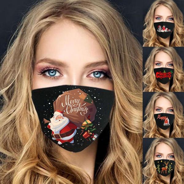 Funny, funnyprint, mouthmask, Christmas