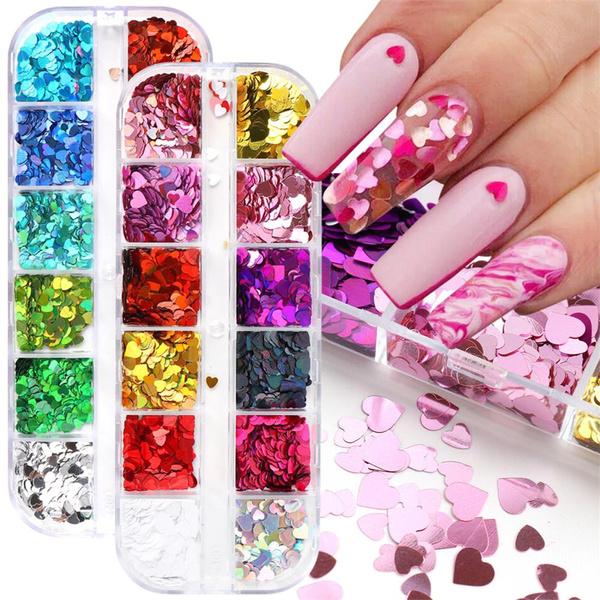 loveheartnailflake, Love, nailfoilpaper, Beauty